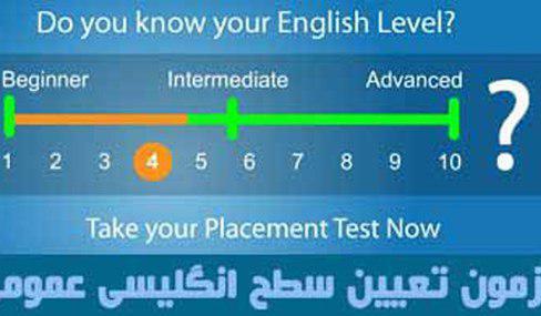 برای آموزش انگلیسی ابتدا باید تعیین سطح شوید